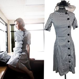 Shabby Apple retro houndstooth dress